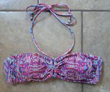 Nanette Lepore Halter Bikini Top Turquoise Pink Size XS