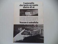 advertising Pubblicità 1973 AUTORADIO VOXSON ESTRAIBILE