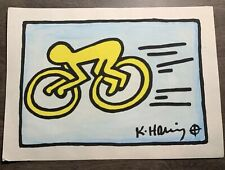 Keith Haring Signed, Estate Stamp, NOT A PRINT Original Painting