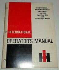 IH International 800 Semi Mounted 8 & 12 Row Planter Operators Manual ORIGINAL!