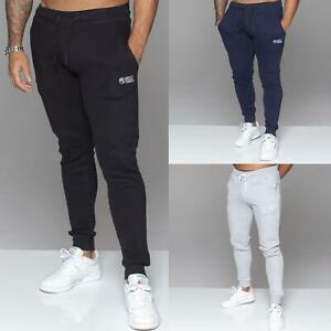 Mens Joggers Slim Fit Cuffed Sweatpants Jogging Bottoms Fleece Trousers By MYT