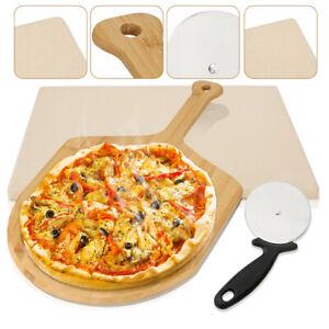 Pizzastein Pizzaschaufel Schamottstein Cordierit Backstein Extra dicker Gasgrill