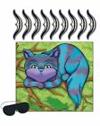 CHESHIRE CAT GAME PIN THE SMILE GRIN ALICE IN WONDERLAND MAD HATTER TEA PARTY