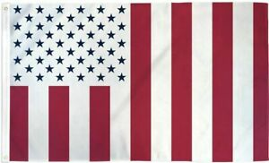 US Civil Flag 3x5 50 Blue Stars United States America USA US Civilian Peace 100D