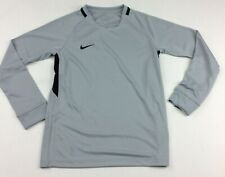 New Nike Youth Unisex Medium L/S Shirt Futbol Soccer Dri-FIT Gray Black 894517