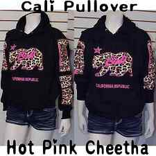 Hot Pink Cheetah Cali Pullover Hoodie Sweater,California Republic Arms Sz XS