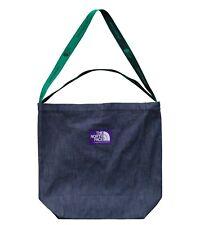 THE NORTH FACE PURPLE LABEL Denim Logo Tape Tote Bag NN7912N INDIGO Japan NEW