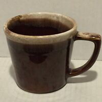 Vintage McCoy Pottery Brown Drip Glazed Mug Coffee Cup