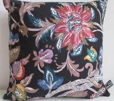 Liberty Vintage Rare Balthazar Cotton & Black Velvet Fabric Cushion Cover