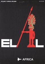 Vintage El Al Flights to Africa Israeli Airline Poster A3 Print
