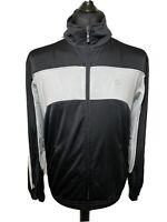 Adidas Retro 2007 Silver Grey Black Men's Track Tracksuit Zip Jacket Top M