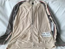 Vintage Original Quicksilver Terry Zip Sweatshirt, Beige/Grey, L