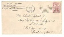 U9, UPSS 12c,Canal Zone Postal Stationery envelope, General CC; used 1929 [stk14