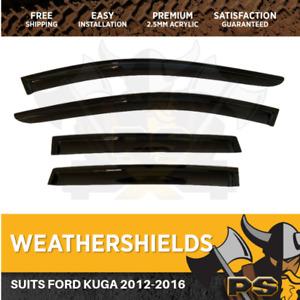 Window Visors Weathershields weather shields for Ford Kuga 2013-2018