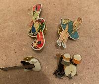 Music Note MONRO GUITAR DRUM KIT Pin Badges Job Lot