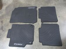 OEM BLACK FLOOR MATS SET 4 PIECE FRONT REAR TOYOTA CAMRY ALL WEATHER 12 13 14