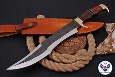 CUSTOM HANDMADE HUNTING 1095 CARBON STEEL KNIFE WITH WOOD HANDLE - ZS 56f