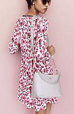 Kate Spade Mini Rose Dress Rose Colored Glasses Long Sleeved Silk sz 4 $398