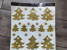 Christmas Tree stars Window Clings  Glass Xmas Decor Stickers Stars Germany