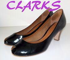 """Fabulous """"CLARKS""""  Black  PATENT  Leather   Pumps  Shoes  UK 6.5  EU 40  £65"""