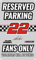 NASCAR Reserved Parking Sign-Joey Logano #22 Fans Only Metal Wall Sign