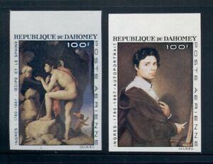 Dahomey Scott #C49-C50 IMPERF MNH Paintings by Ingres ART $$