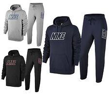 Nike New Men's Hybrid Fleece Full Tracksuit Overhead Hoodie & Jogging Bottoms