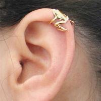 Fad 1Pcs Punk Gold Plated Cute Frog Cuff Ear Clip Wrap Earring Retro Jew RSC