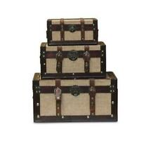 Clatin Trunks, Set of 3, Brown/Beige