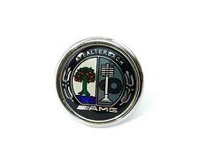 Mercedes AMG Logo Emblem Badge Front Bonnet Hood Class C E S 45mm Chrom Metal