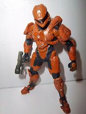 Halo 4 Series 2 **ORANGE SPARTAN SCOUT** McFarlane Figure 100% Complete w/ Gun