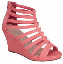 NEW Open toe Gladiator High Heel Sandal Strappy Ankle Block Wedge Platform Shoe