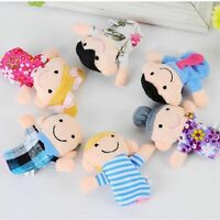 Funny Educational Kid Cloth Doll Hand Finger Puppets 6Pcs Toy Family