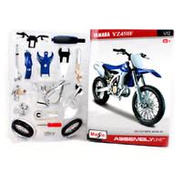 1/12 YAMAHA YZ450F Assembly Line DIY Motorcycle Diecast Metal  Maisto Model kit