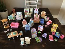 Fisher Price Loving Family Furniture Accessories Lot Vintage Dream Dollhouse