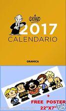 CALENDARIO PARED QUINO 2017 SPANISH ESPAÑOL WALL CALENDAR (Mafalda) +FREE POSTER