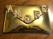 d72d7aab8f Borsa trasformabile tracolla / pochette oro con scritta Amore di perle NUOVA