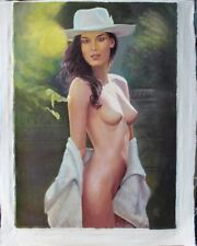 Art Oil painting on Canvas, Nude Girl Woman , canvas 20 × 28 inches