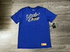 723ed321c Nike Kyrie Irving Uncle Drew Basketball T-Shirt Mens Blue Gold L NEW BQ6202-