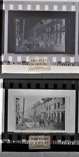 Negativ abfotografiertes Foto Draht Sperren Häuser