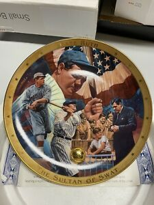 "The Legendary Babe Ruth ""The Sultan of Swat""  Plate Limited Ed Royal Doulton~New"