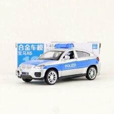 BMW X6 Police Polizei SUV 1:43 Scale Diecast Metal Model Collection Car Silver
