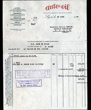 """LYON (69) HUILES & GRAISSES """"Sté AUTO-OIL / anciennement A. LA SELVE & Cie"""" 1934"""
