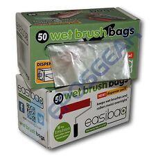 """100 Easibag Large 18"""" / 13 Litre Plastic Paint Brush Roller Bags Dispenser Roll"""