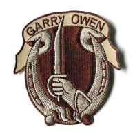 7TH CAVALRY REGIMENT GARRY OWEN US ARMY EMBROIDERED PATCH 2.75 INCHES
