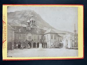 Suisse, Salins-les-Bains, Salins Jura Vintage print. Carte cabinetLèon Bouvier
