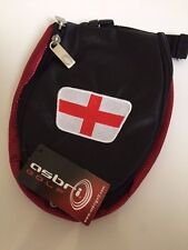 Brand New Asbri Flame England Crested Golf Pouch Bag For Valuables