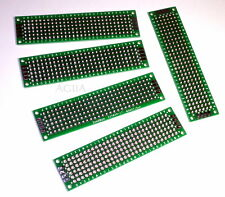 5 x Double Side Prototype PCB Bread board Tinned Universal 2x8 cm 20mmx80mm - UK