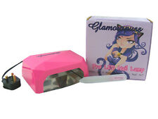 Glamourpuss Boutique 12W LED UV Nail Lamp Pink Gel Manicure Cure Timer Art