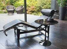 50cm Circular Side Table In Black Portoro Marble - designed by Eero Saarinen